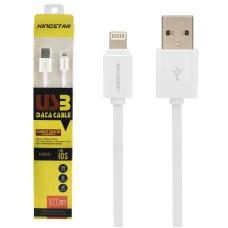 کابل تبدیل USB به لایتنینگ کینگ استار مدل KS03i طول 1 متر با گارانتی شش ماهه